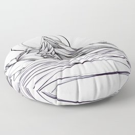 'Crystal Mountain Peaks' Floor Pillow