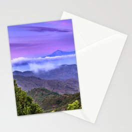 Volcano Teide And Garajonay. 3.718 Meters. At sunset Stationery Cards