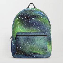 Galaxy Nebula Watercolor Northern Lights Aurora Borealis Backpack