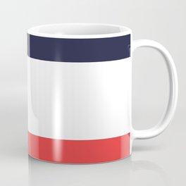 Blue White & Red Color-Block Stripe Coffee Mug