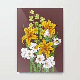 bouquet of lilies Metal Print