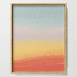 Ceramic Sunset // Multi Color Speckled Drip Summer Beach California Surf Vibes Wall Hanging Design Serving Tray