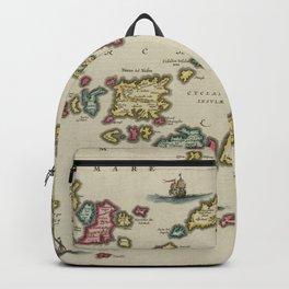 Vintage Aegean Sea Islands Map (1665) Backpack