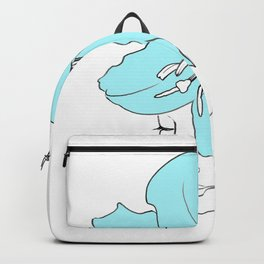 Blue Lily Woman / Line Drawing Backpack