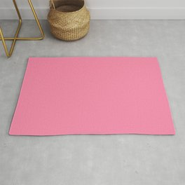 From The Crayon Box – Inspired by Tickle Me Pink - Bright Pink Solid Color Rug