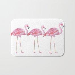 Flamingo - Pink Bird - Animal On White Background Badematte