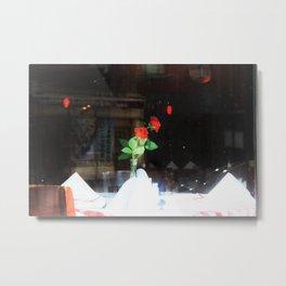 Rose in the Window of Mimi's in Upper East Side Metal Print