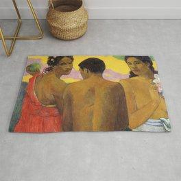 Three Tahitians by Paul Gauguin Rug