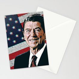 Patriotic President Reagan Stationery Cards