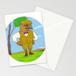 Hawk Outdoorsman Oval Drawing Stationery Cards
