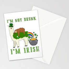 St Patricks Day I'm Not Drunk I'm Irish Stationery Cards