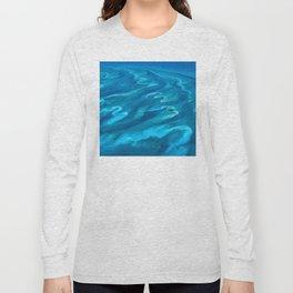 Dramatic Blue Ocean Waves Long Sleeve T-shirt