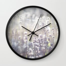 Lavender and the sun Wall Clock