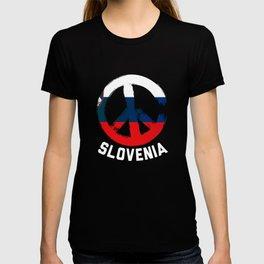 Slovenia Peace Sign Shirt T-shirt