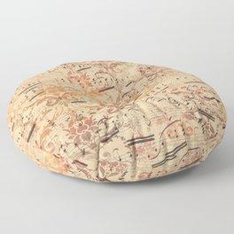 Vintage Ephemera 3 Floor Pillow