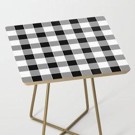 Buffalo Check - black / white Side Table