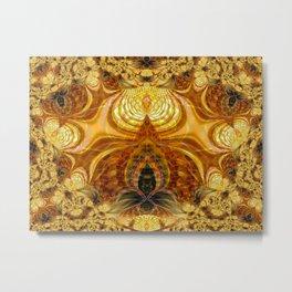 Golden Eliquence Metal Print