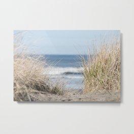 The Beach Beckons    Path To Ocean Shore Metal Print