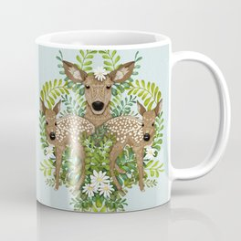 Cute Fawn Damask Coffee Mug