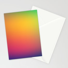 Blurred Rainbow Colors  Stationery Cards