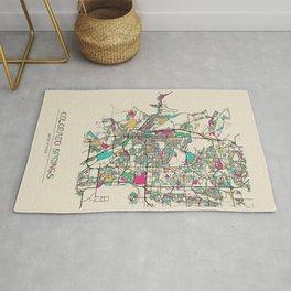 Colorful City Maps: Colorado Springs, Colorado Rug