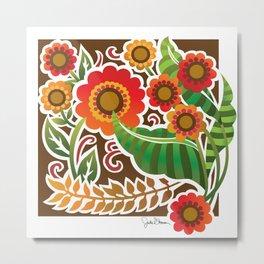 Fun With flowers Metal Print