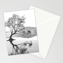 Wanaka Tree New Zealand Nature Photograph Black And White Stationery Cards