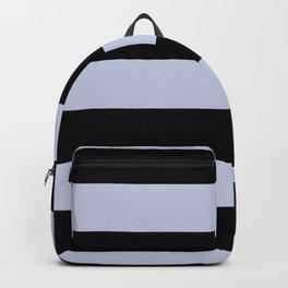 Illuminated Violet - Twilight Mist - Carousel Purple Hand Drawn Fat Horizontal Lines On Black Backpack