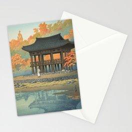 Sanggeru Pavilion, Pegyangsa Temple In Autumn - By Kawase Hasui - Vintage Japanese Ukiyo-e Woodblock Stationery Cards