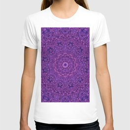 Purple Fuzzy Mandala T-shirt