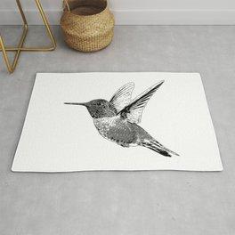Hummingbird-Flying-Bird-Animal,Nectar-Flower Rug