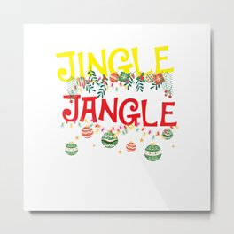 Jingle Jungle Bells - Xmas Christmas Gift Idea Metal Print