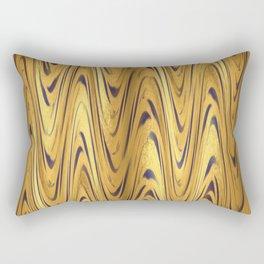 Zigzag Moroccan Gold Rectangular Pillow