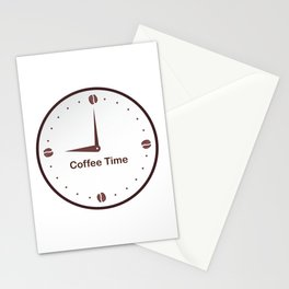 It is the Coffee time - I love Coffee Stationery Cards
