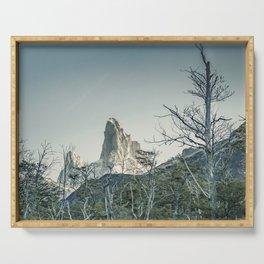 Fitz Roy Mountain, el Chalten - Patagonia - Argentina Serving Tray