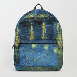 Van Gogh, Starry Night Over The Rhone Artwork Reproduction, Posters, Tshirts, Prints, Bags, Men, Wom Backpack