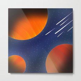 Space planet view Metal Print