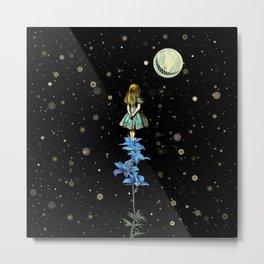 Wonderland Sky Viewing Time - Alice In Wonderland Metal Print
