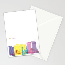 Omaha skyline pop Stationery Cards