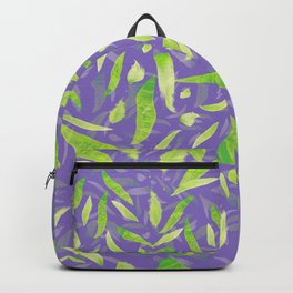 Green Splats on Purple Backpack