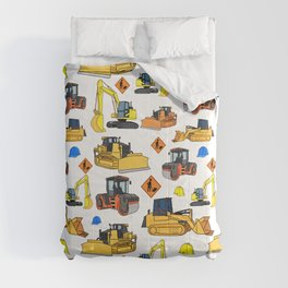 Construction Vehicles Pattern Comforters