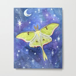 Galaxy Moth Metal Print