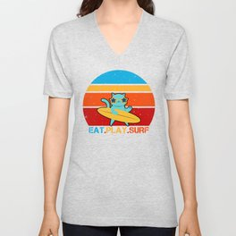 Eat Play Surf Unisex V-Neck