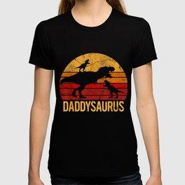 Daddy Dinosaur Daddysaurus wo Xmas Father T-shirt