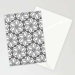 links black and white contemporary modern symmetry Stationery Cards