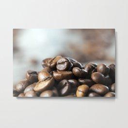 brown coffee beans Metal Print