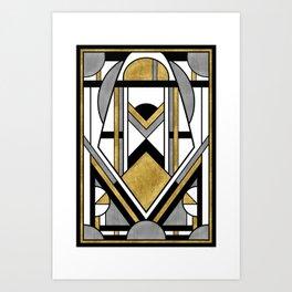 Up and Away - Art Deco Spaceman Art Print