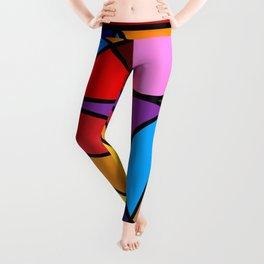 Rainbow Modern Art Leggings