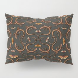 Lizards, Moths & Insects - Reptile Pattern Pillow Sham