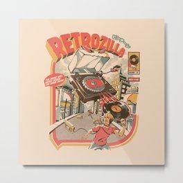 Retro Soundzilla Metal Print